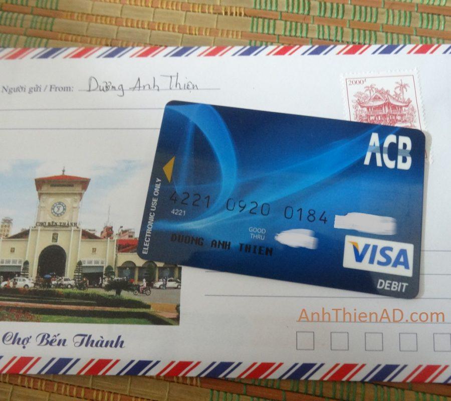 Mặt Trước của Thẻ VISA Debit