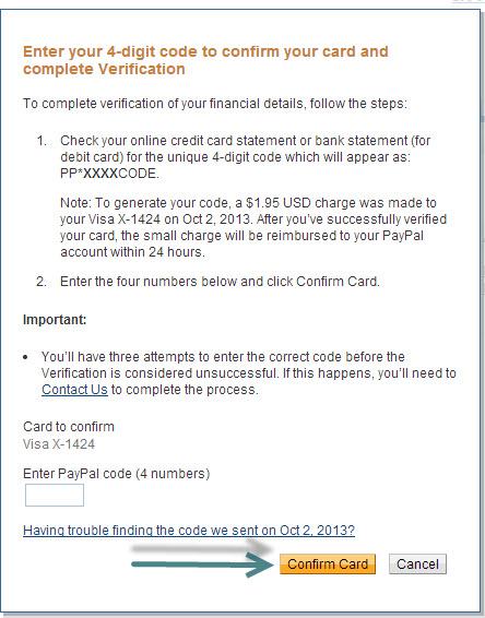 Điền mã số bí mật vào khung dưới đây và nhấn nút Confirm Card.