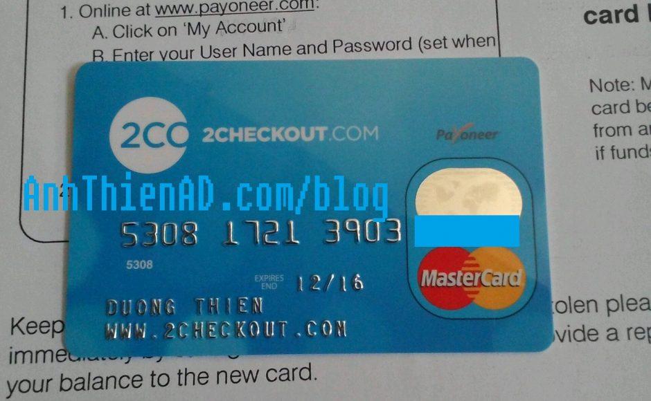 Hướng dẫn tạo và sử dụng thẻ Payoneer để nhận tiền