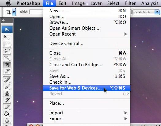 photoshop-save-web-menu