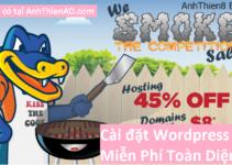 Chỉ Hôm Nay – Hostgator giảm giá 45 % cài đặt WordPress Miễn Phí