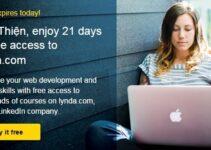 Nhận 21 ngày miễn phí học tại Lynda.com
