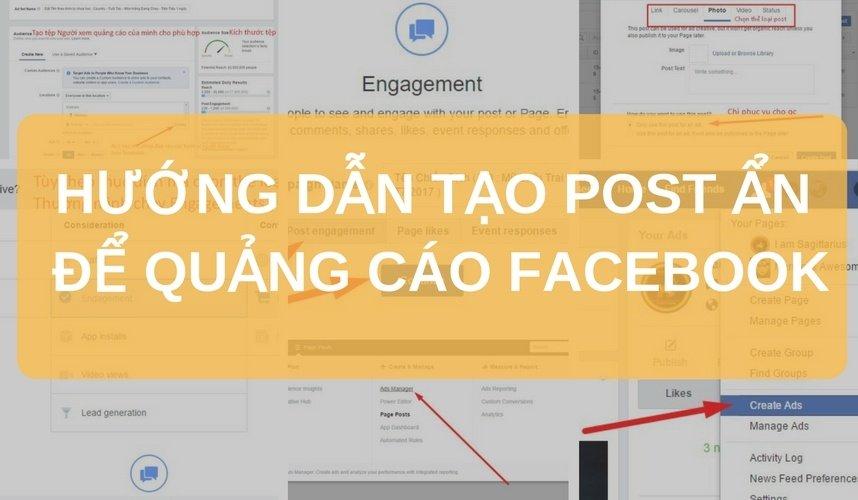 huong dan tao post an dark post de quang cao facebook 14