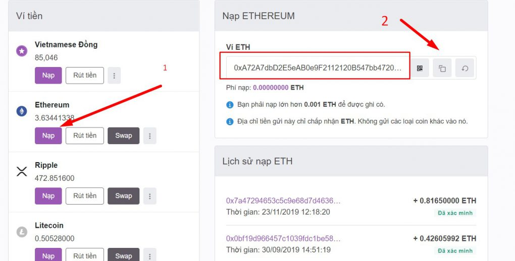 huong dan su dung vi remitano giao dich bitcoin eth usdt toan tap 13