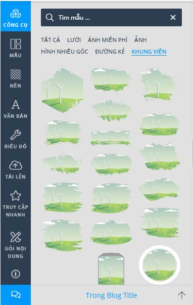Khung viền hình ảnh trên DesignBold