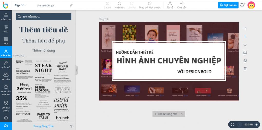 Hướng dẫn sử dụng DesignBold để thiết kế hình ảnh chuyên nghiệp