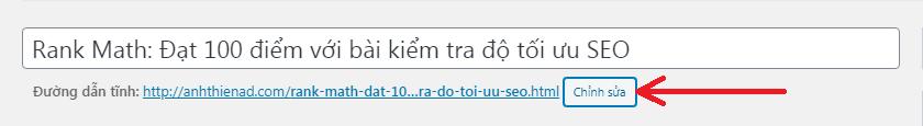 Chỉnh sửa trực tiếp URL