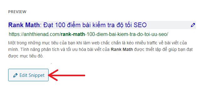 Edit Snippet trong Rank Math