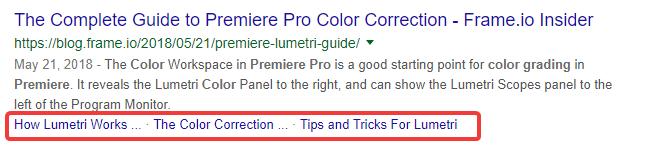 Link nhảy tới trong trang kết quả tìm kiếm